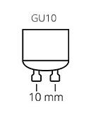 GU10 lampvoet fitting